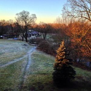 Het uitzicht vanaf mijn balkon